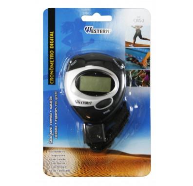 Cronômetro Progressivo Digital com Relógio e Alarme Western CR53