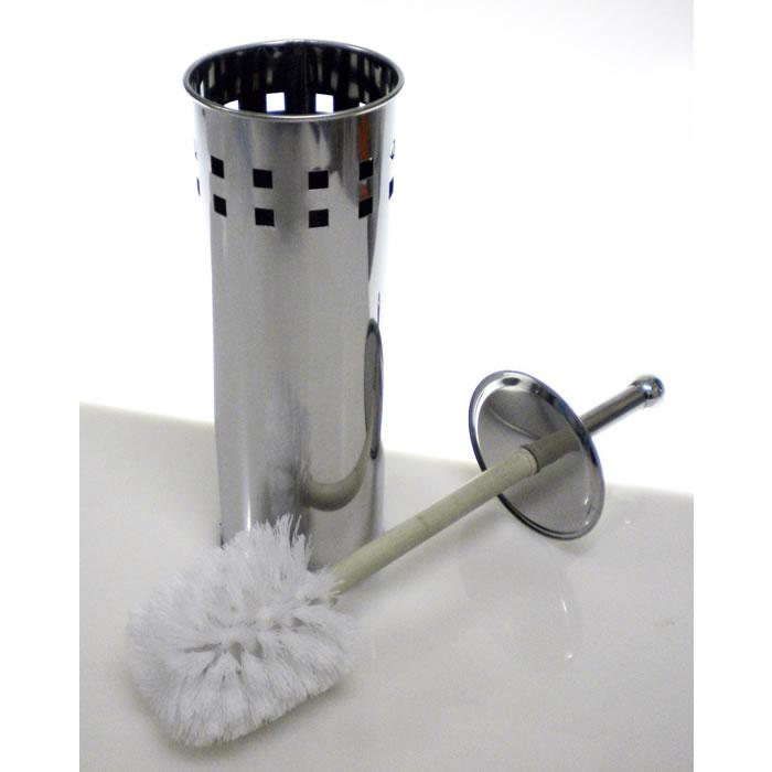 Escova Sanitária para Banheiro Suporte em Inox Quadrados