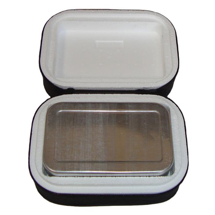 Marmita Térmica Em Alumínio Com Isopor e Capa em TNT Retangular
