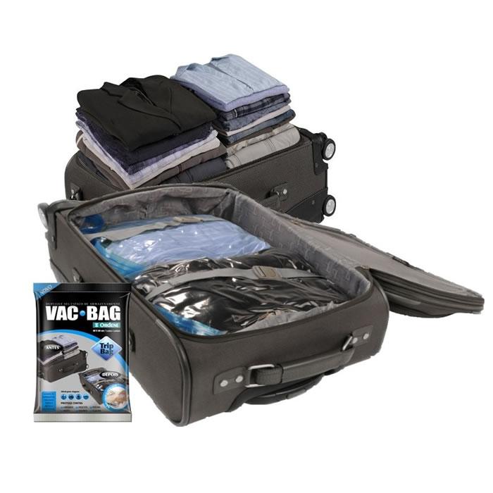 Saco a Vácuo Para Roupas Em Viagem Trip Bag Vac Bag 60cm x 40cm Ordene OR55000