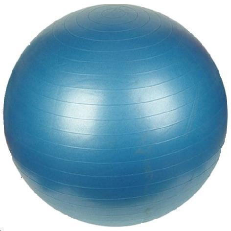 Bola Suiça para Ginástica e Pilates 55cm Azul com Bomba Fitball Olymport OA357