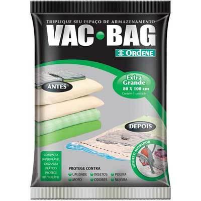 Saco a Vácuo Para Roupas Vac Bag Extra Grande 80cm x 100cm Ordene OR55600