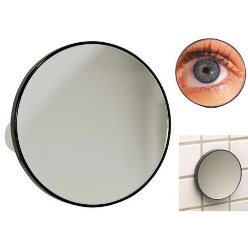 Espelho com Aumento 5X e Ventosa para Fixação Redondo 14cm Preto Art Beuathy ZF2144