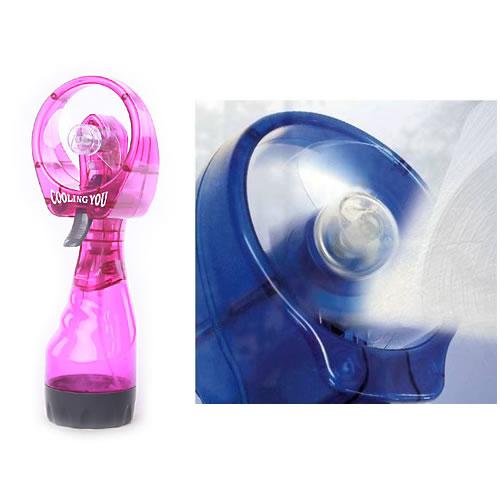 Ventilador de Mão Com Borrifador Spray de Agua Portátil A Pilha Batiki 72895