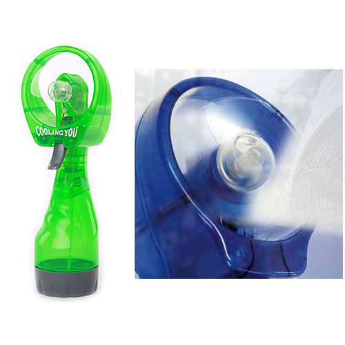 Ventilador de M�o Com Borrifador Spray de Agua Port�til A Pilha Batiki 72895