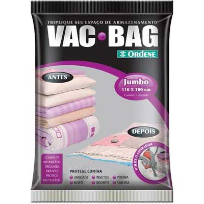 Saco a Vácuo Para Roupas Vac Bag Jumbo 110cm x 100cm Ordene OR55800