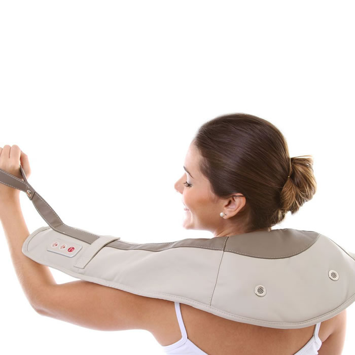Massageador Elétrico Para Pescoço e Ombros Winged 110V Olymport LY-803C
