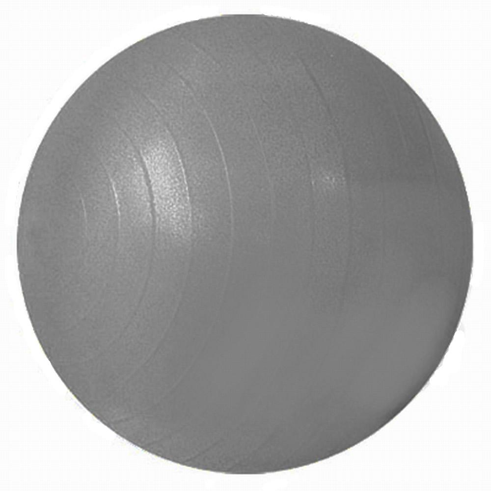 Bola Suiça para Ginástica e Pilates 55cm Cinza com Bomba Fitball Olymport OA357