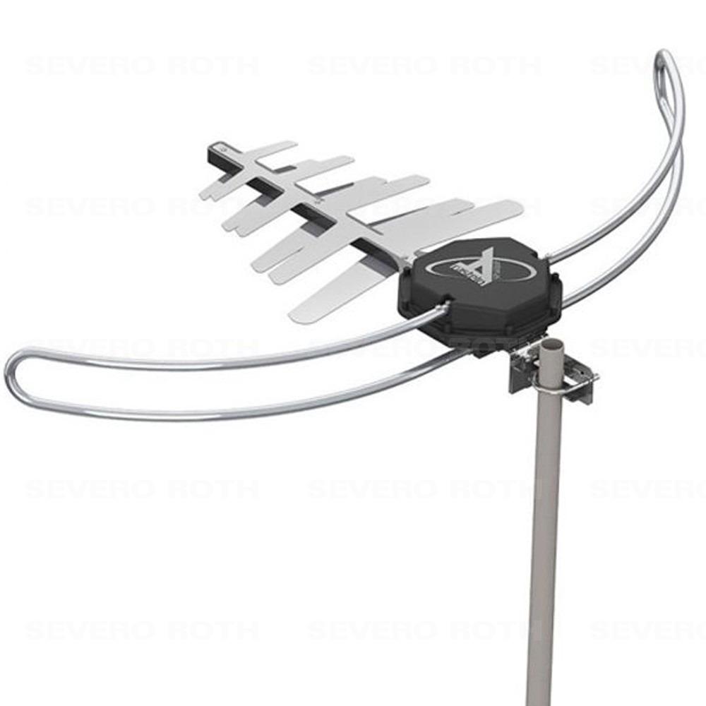 Antena para TV Digital Externa HDTV UHF VHF FM Digital 4x1 Digiblack Master Castelo M1088