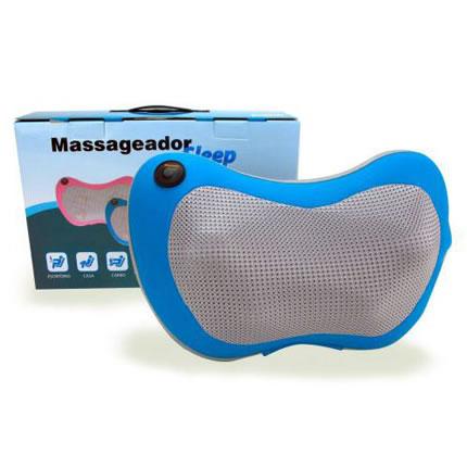 Massageador Portátil Veicular em Formato de Travesseiro Azul Sleep Olymport LY-735