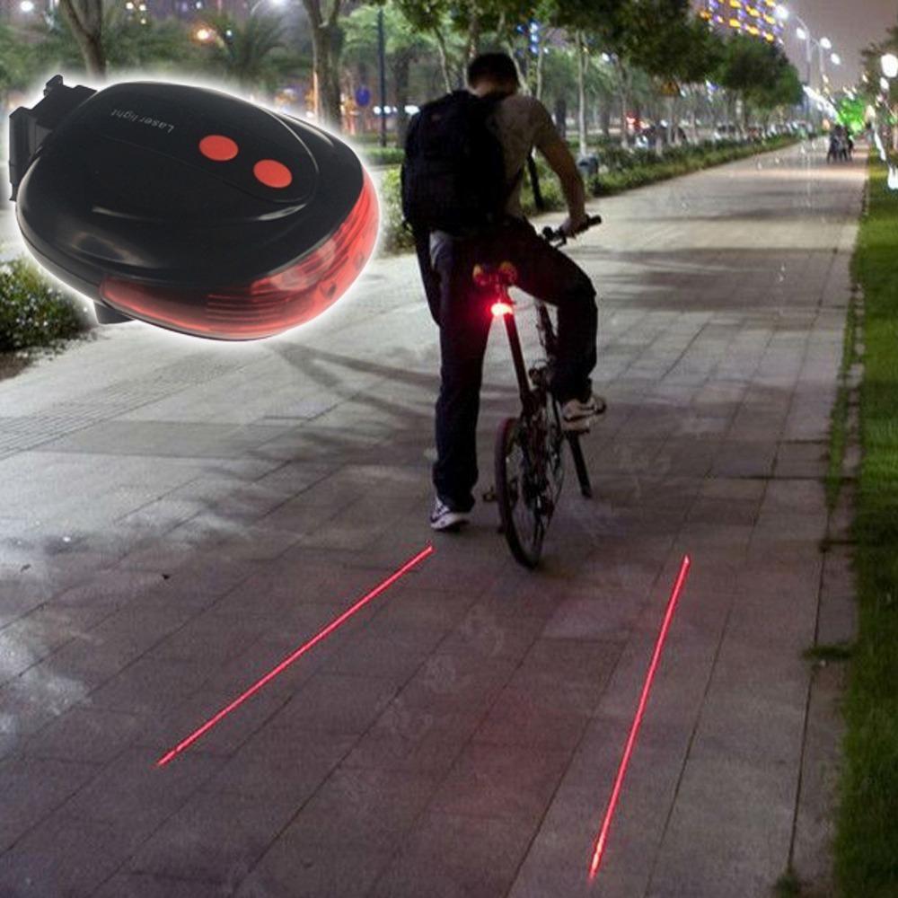Lanterna Traseira Sinalizadora para Bicicleta com Laser de Distância BL-188
