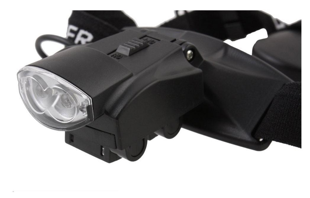 Lupa de Cabeça com Iluminação Luz de 2 LEDs com 5 Lentes Tipo Pala 9892C