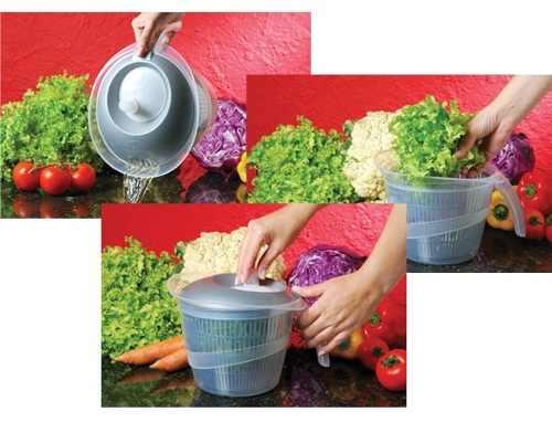 Secador de Salada e Verduras Centrífuga Manual Plasútil 4137