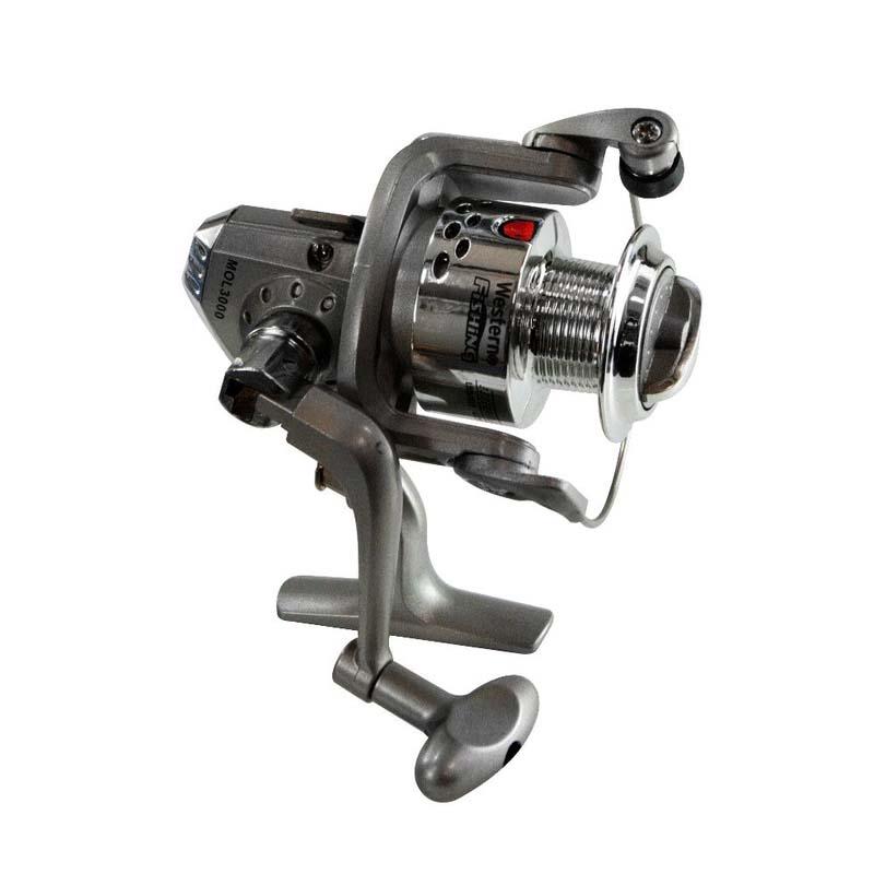 Molinete 30 para Vara de Pesca 6 Rolamentos Western MOL3000/6