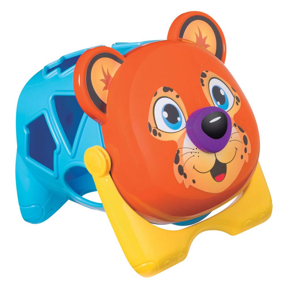 Onça Didática Colorida com Blocos Geométricos de Encaixar Mercado Toys 294