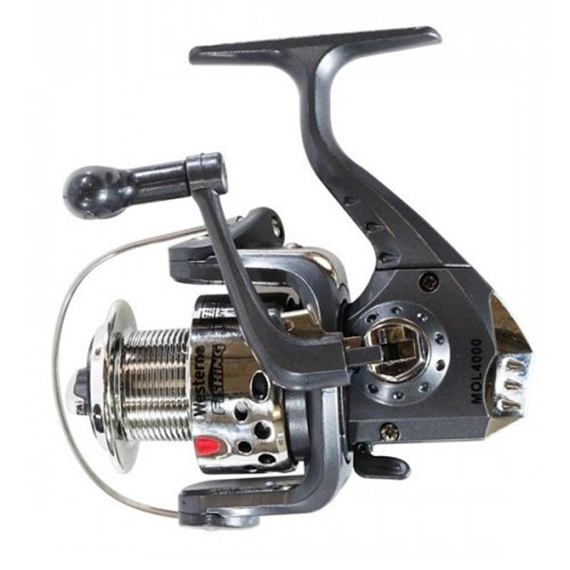 Molinete 40 para Vara de Pesca 6 Rolamentos Western MOL4000/6