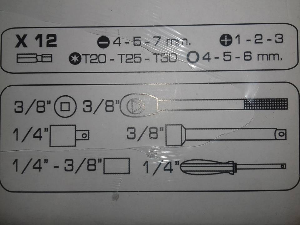 Kit Soquete com Chave Catraca Reversível 3/8