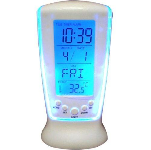 Relógio de Mesa Digital com Despertador, Temperatura, Data e Luz DS-510