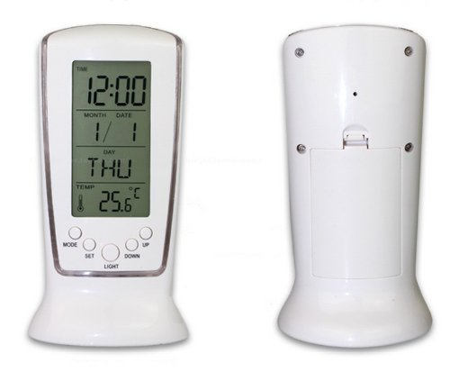 Relógio de Mesa Digital com Despertador, Temperatura, Data e Luz DS-510