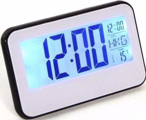 Relógio de Mesa Digital com Despertador, Temperatura, Calendário e Luz 2618
