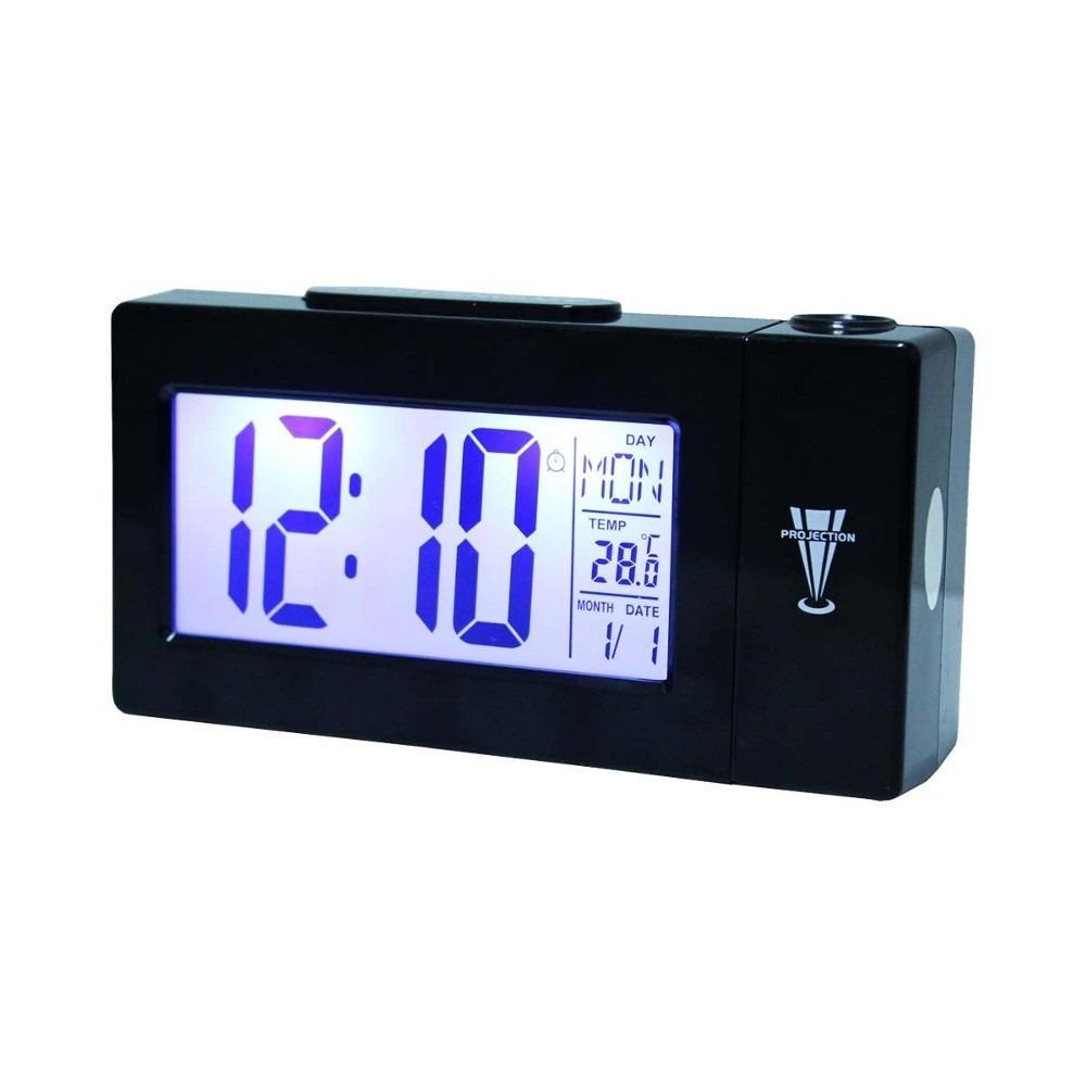 Relógio Despertador Digital com Projetor de Horas DS-618