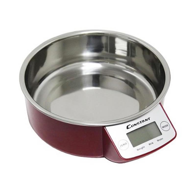 Balança de Cozinha Digital 5Kg Inox Constant 14192-237B