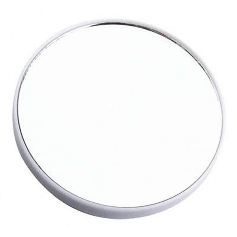 Espelho com Aumento 5X e Ventosa para Fixação Redondo 14cm Branco Art Beuathy ZF2144