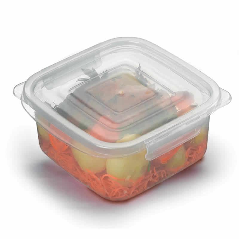 Kit 10 Potes Plásticos Quadrados 1,8L para Micro-ondas e Freezer Nitron G 037/7