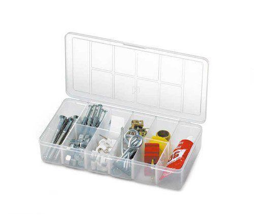 Kit 10 Caixas Organizadoras Plástica com Tampa 16 Divisórias Nitron 106G