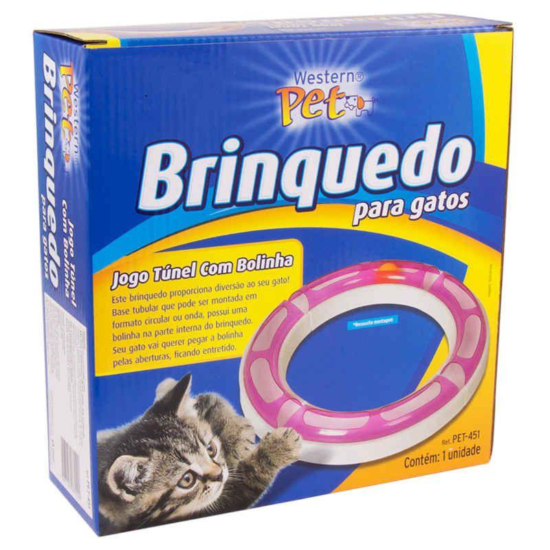 Brinquedo para Gato Túnel com Bolinha Western PET-451