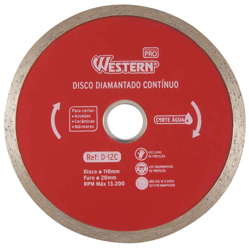 Disco Diamantado Contínuo 110mm Western D-12C