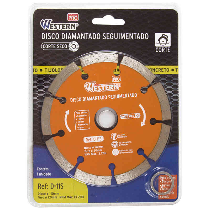 Disco Diamantado Seguimentado 110mm Western D-11S