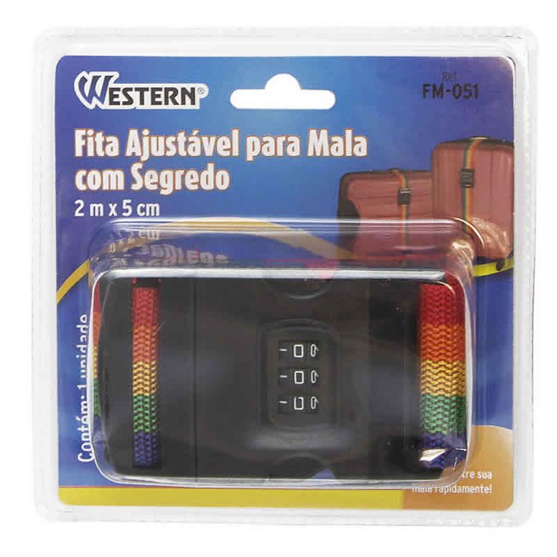 Fita para Fechar Mala com Cadeado de Segurança com Código Western FM-051
