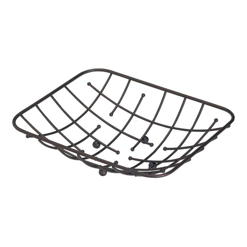 Fruteira Retangular para Mesa Bronze Art House ZF2569