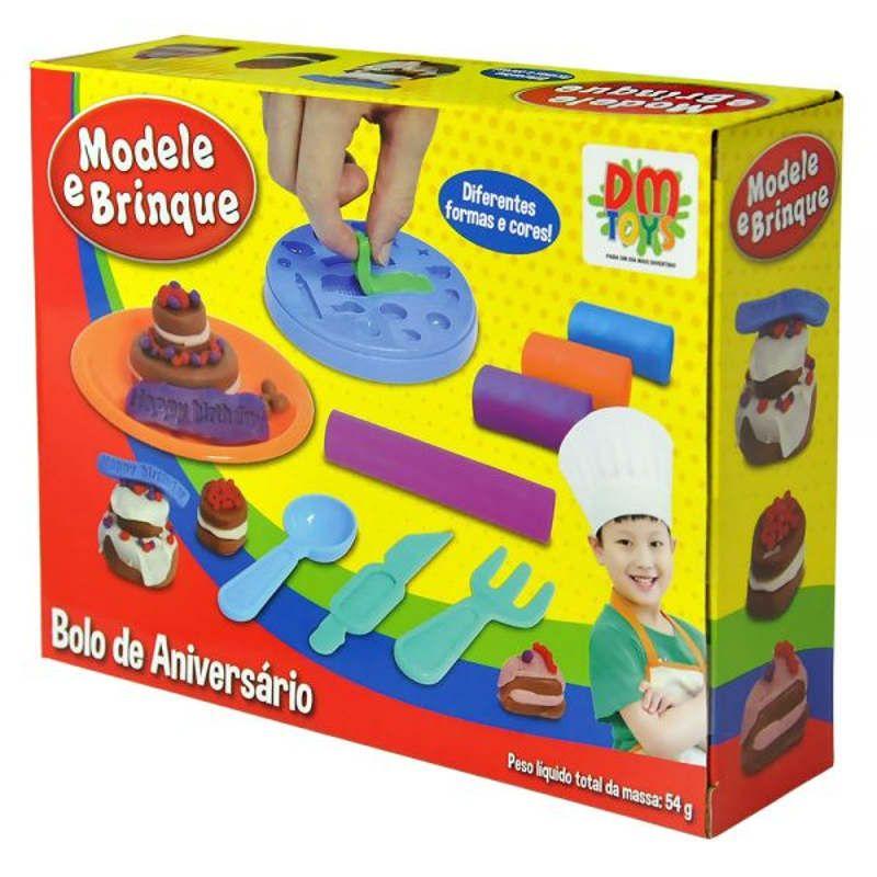 Massinha de Modelar Bolo de Aniversário DM Toys DMT4733