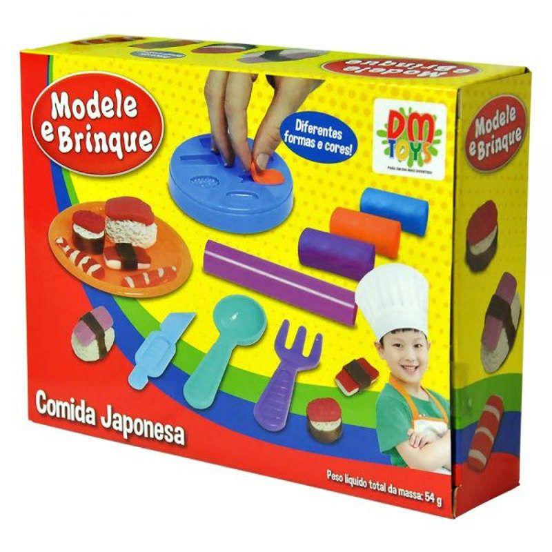 Massinha de Modelar Comida Japonesa DM Toys DMT4734