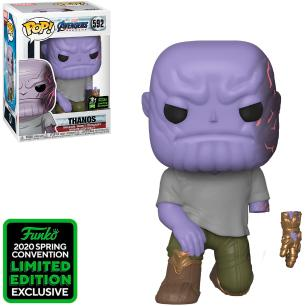 FUNKO POP MARVEL AVENGERS ENDGAME THANOS 592 2020 SPRING CONVENTION LIMITED EDITION