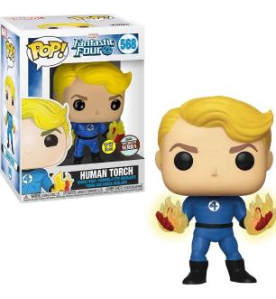 Funko Pop Marvel Fantastic Four 4 Human Torch Glows In The  Dark Special Series Limited Edition 568
