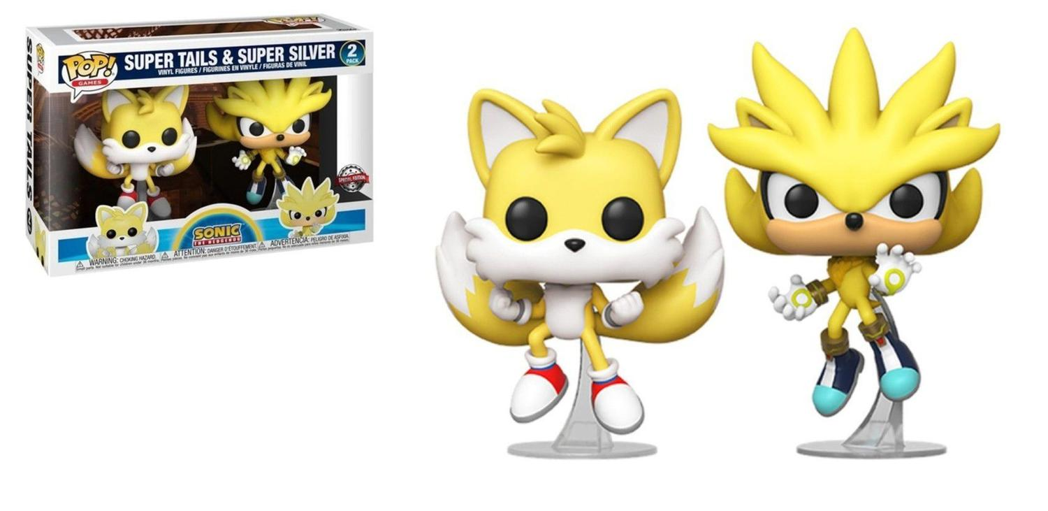 Funko Pop Sonic Super Tails & Super Silver Special Edition 2 Pack
