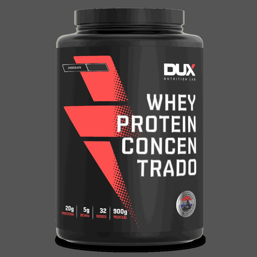 Whey Protein 900g Concentrado Chocolate Dux Nutrition