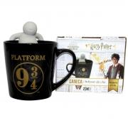 Caneca com infusor para chá Hogwarts