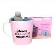 Caneca com infusor para chá Pensamentos positivos