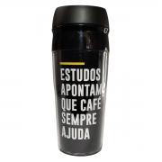 Copo para viagem frases cafe ajuda