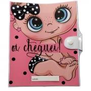 Porta caderneta de vacina rosa