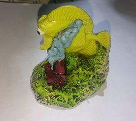Enfeite de resina Yellow tang md  NOVO
