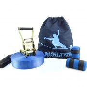 Slackline 15 Metros - Azul + Protetor + Bolsa