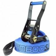 Slackline Zamboo Basic Black 15 Metros - Azul