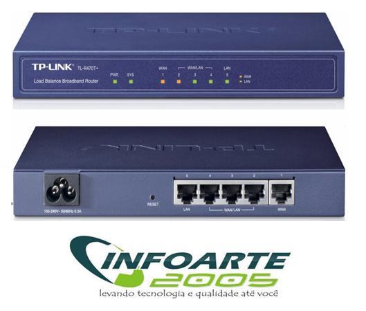 W. TP-LINK TL-R470T+2 PORTAS WAN+3 LAN 266MHZ INTEL