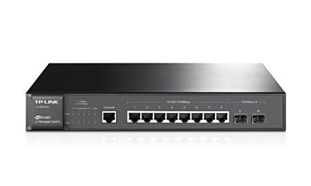 Switch Gigabit de Gerenciamento Básico L2 de 8 portas com 2 slots SFP JetStream TL-SG3210