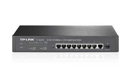 TP-LINK HUB SWITCH TL-2210 8P 10/100+2P 10/100/1000